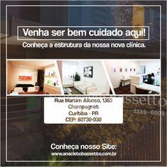 Conheça nossa nova clínica! www.anacletobassetto.com.br