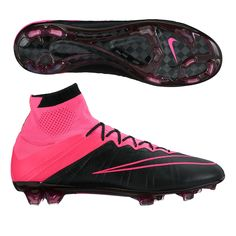 d112a5bd06b3e Nike Mercurial SuperFly IV Tech Craft (Leather) FG Cleats (Black Pink)