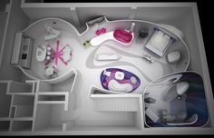 Saturn Bath Showroom, Seoul, Korea to be completed September 2014 by KARIM RASHID.
