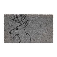 Paillasson gris pour la décoration Noël 2015 par IKEA  http://www.homelisty.com/ikea-devoile-sa-collection-noel-2015-et-cest-magnifique/
