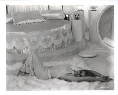 I think this is Ann Margaret.  But who cares?  I just love the look of this round bed!  It's gorgeous <3