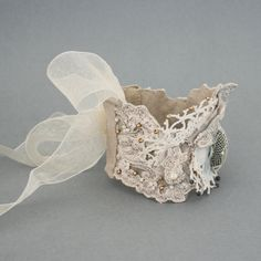 vintage lace textile cuff