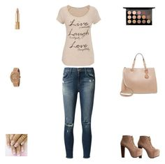 """Contest: Nude & Light Brown Outfit"" by billsacred ❤ liked on Polyvore"