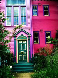 vibrant pink home. I am in love
