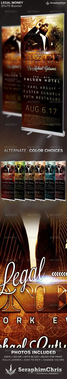 Legal Money: Networking Banner Template — Photoshop PSD #alternative #meeting • Available here → https://graphicriver.net/item/legal-money-networking-banner-template/6523701?ref=pxcr