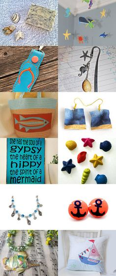 Fun At The Beach by JilleBeans Creations on Etsy--Pinned with TreasuryPin.com