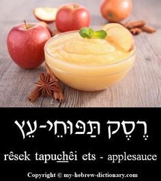 "How to say ""Applesauce"" in Hebrew. Click here to hear it pronounced by an Israeli: http://www.my-hebrew-dictionary.com/applesauce.php #howtospeakhebrew"