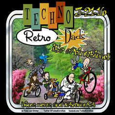 TechnoRetro Dads in Spring: Bicycle Rides and Blooming Azaleas