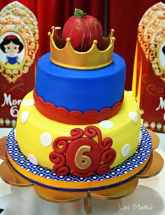 Gorgeous cake at a Snow White birthday party! See more party ideas at CatchMyParty.com!