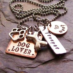 Personalized Handstamped Dog Lover Charm by EquineExpressionsbyD, $30.00