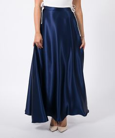 This Navy Silk Maxi Skirt by Space 46 Boutique is perfect! #zulilyfinds
