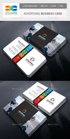 #Advertising Business Card - #Corporate #Business #Cards Download here: https://graphicriver.net/item/advertising-business-card/17840652?ref=alena994