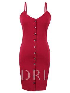 Spaghetti Strap Single-Breasted Women's Bodycon Dress Jeans Dress, Single Breasted, Spaghetti, Bodycon Dress, Dresses, Fashion, Vestidos, Moda, Body Con