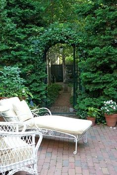 Peaceful garden seating