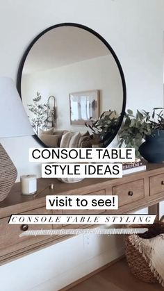 Interior Design Living Room, Living Room Decor, Room Interior, Console Table Styling, Entryway Console Table, Family Room Walls, Interior Minimalista, Home Upgrades, Entryway Decor