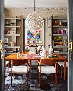 Preciously Me blog : Madrid - Ignacio García de Vinuesa Mid-Century Modern Dining Room