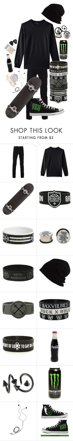 """"""".:we're sinking to the sky:."""" by dontfallasleepatthehelmm on Polyvore featuring Versace, Lands' End, Hot Topic, SCHA, Diane Von Furstenberg and Converse"""