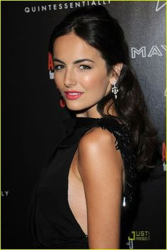 Camilla Belle: A Good Deed With Dominoes: Photo Camilla Belle helps support the Artists For Peace and Justice's Haiti earthquake relief efforts by attending the Hollywood Domino's Pre-Oscar gala held at Most Beautiful Faces, Beautiful Celebrities, Beautiful Actresses, Camila Belle, Belle Hairstyle, Curly Girl Method, Provocateur, Pretty Woman, Her Hair