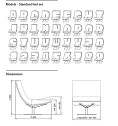 Typography Chairs -Any letter or number can be a chair. Great idea for lobbies. Tnx  @Josh Humble cc @joshhumble
