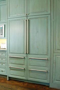 Custom Built Cabinet For Sub Zero Refrigerator In
