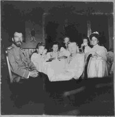 Before the Murders: Rare Photographs of Russia's Last Royal Family   Nicholas II and his wife, Empress Aleksandra (far right), with their four daughters and son. The tsar was forced to abdicate in 1917 and he and his family were shot and stabbed to death by Bolshevik troops, in 1918, before their bodies were doused in acid and dumped into a mine shaft.