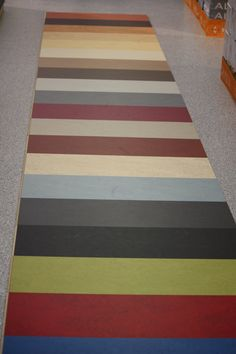 Marmoleum floors - loads of colour selection. Exercise / laundry.