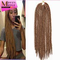 "Wholesale 14"" Havana Mambo Faux Locs Braids 24Strands Crochet Dreadlock Braid Hair Extensions Crochet Twist Braids Free Shipping"
