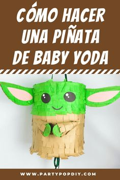 Piñata de Baby Yoda Grogu #babyyoda #yoda #starwars #piñata #manualidades #grogu Ideas Para Fiestas, 9th Birthday, Diy, Craft Ideas, Crafts, Ideas, How To Make, Paper Envelopes, Boy's Day