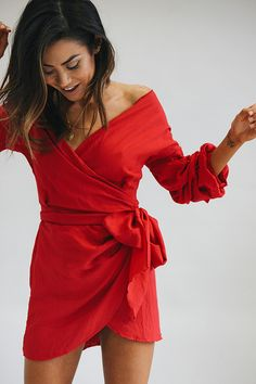 568b5a3761c VG Waitin  For The Night Wrap Dress    Red