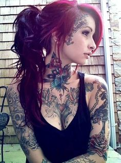 Lovin all her tattoos