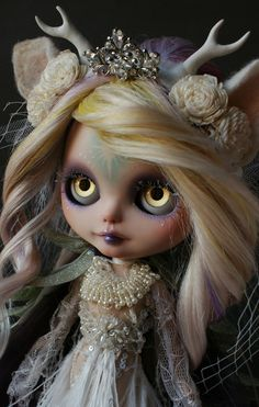 ANCIENT FOREST DEER SPIRIT (Ooak BLYTHE Doll) Art Print