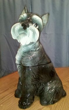 Schnauzer Cookie Jar # 905 made in USA by California Originals