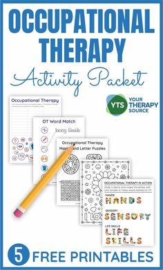 Occupational Therapy Activity Packet - Your Therapy Source Mental Health Activities, Physical Activities, Activities For Kids, Ot Therapy, Therapy Ideas, Occupational Therapy Autism, Ot Month, Handwriting Activities, School Ot