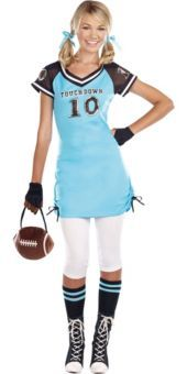 teen girls touchdown cutie football costume - Halloween Costume Football