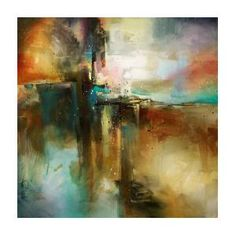 Abstract Art Canvas Print featuring the painting 'bridge To Eternity' by Michael Lang Abstract Canvas, Canvas Art, Canvas Prints, Art Prints, Abstract Paintings, Painting Canvas, Abstract Print, Framed Prints, Contemporary Abstract Art