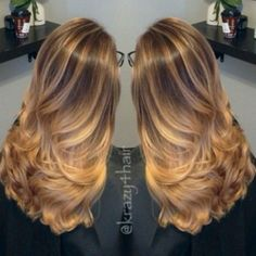 balayage caramel hair, great way to lighten brunette hair for summer by janice