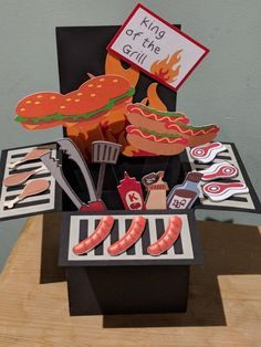 BBQ pop up explosion card