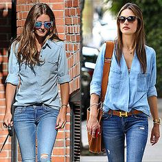 Rock the double denim look.   #thetrend