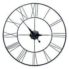 Roman Numeral Metal Clock | Dunelm