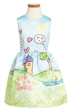 Halabaloo Graphic Sleeveless Dress (Toddler Girls, Little Girls & Big Girls) available at #Nordstrom