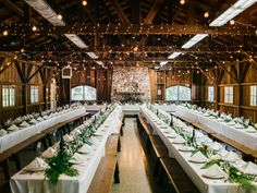 rustic reception with string lights - photo by Braedon Photography http://ruffledblog.com/camping-wedding-at-half-moon-bay