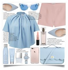 """💗💙💗💙Baby Pink and Blue💙💗💙💗"" by hanna0 on Polyvore featuring Valentino, The Cambridge Satchel Company, Keepsake the Label, Kate Spade, Drybar, Butter London, OMEGA, Calvin Klein and MAC Cosmetics"
