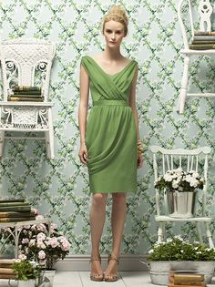 Bridesmaid dress in clover or charcoal