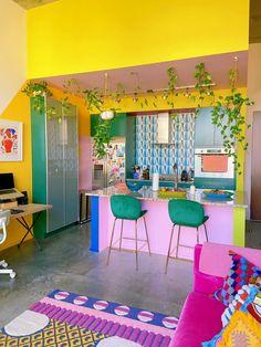 Room Colors, House Colors, Colorful Decor, Colorful Interiors, Colorful Apartment, Interior Decorating, Interior Design, Aesthetic Room Decor, Home Decor Inspiration