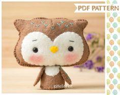 PDF Pattern Woodland Series: Owl Felt Woodland Animal by HelloFelt
