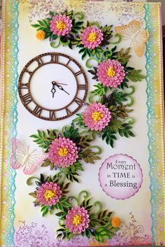 Paper Quilling Wall Clocks
