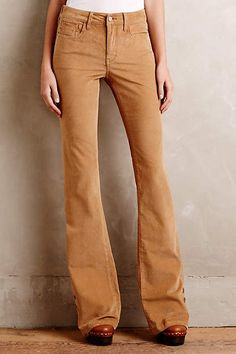 Anthropologie EU Pilcro Stet Corduroy Flares. Who said wardrobe staples have to be boring and khaki? Reliable as they are colourful, Pilcro designs inspire layering, mixing-and-matching, and always have a personality of their own. An Anthropologie exclusive.
