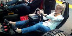 Jessica Campidell web manager http://autokm0.tv si rilassa a 320 km/h allo stand Pirelli > Automotive Dealer Day 14 > VeronaFiere