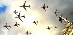 Watch Hundreds Of Airplanes Departures In 30 Seconds
