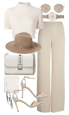 """""""Untitled #20184"""" by florencia95 ❤️ liked on Polyvore featuring Valentino, Yves Saint Laurent, Armani Collezioni, Dolce&Gabbana, Rachel Comey, Janessa Leone, Gucci and Emporio Armani"""